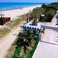 The Camping  is directly on the beach in Pineto, Abruzzo