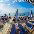 La plage à Pietra Ligure, Ligurie