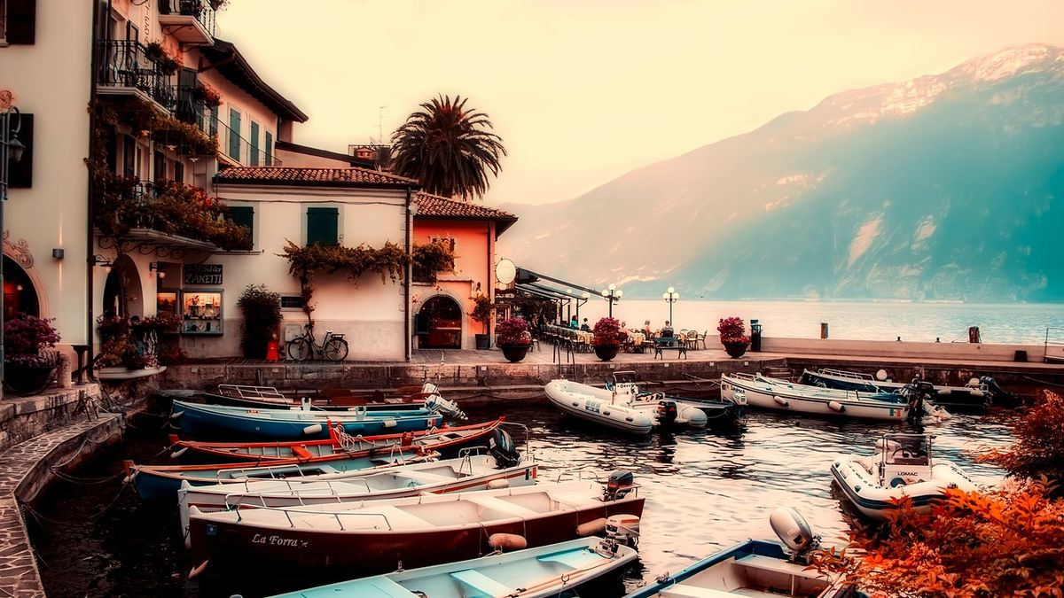 Lago di Garda in autunno