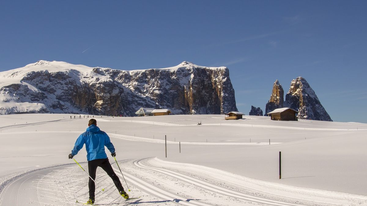 Sci sulle Dolomiti