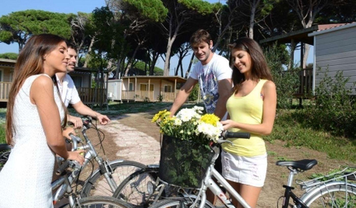 Alquiler de bicicletas en camping