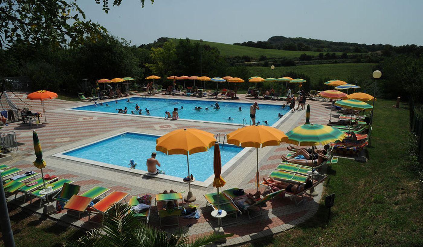 Der Pool von Camping Panorama