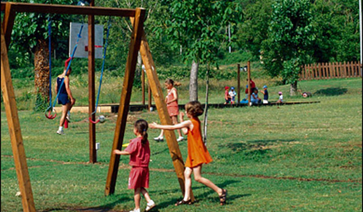 Spielplatz des Campingplatzes