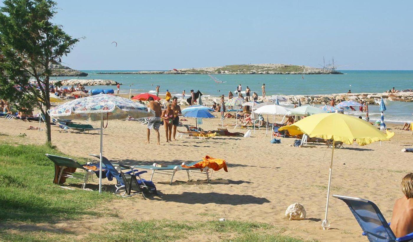 La spiaggia del camping