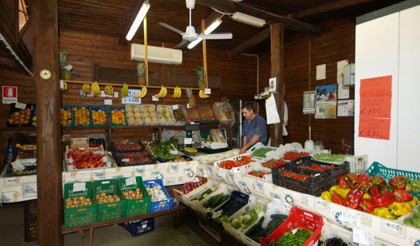 Il market nel camping village