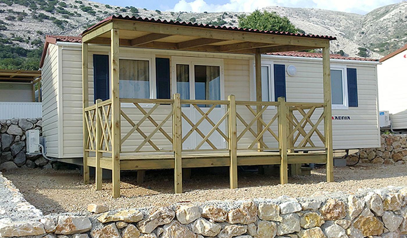 Campeggio con case mobili, in Croazia