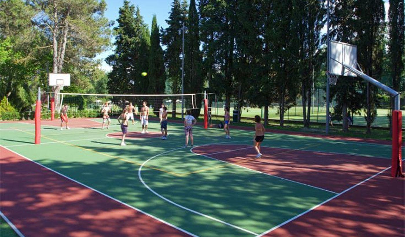 Basket-und Volleyball