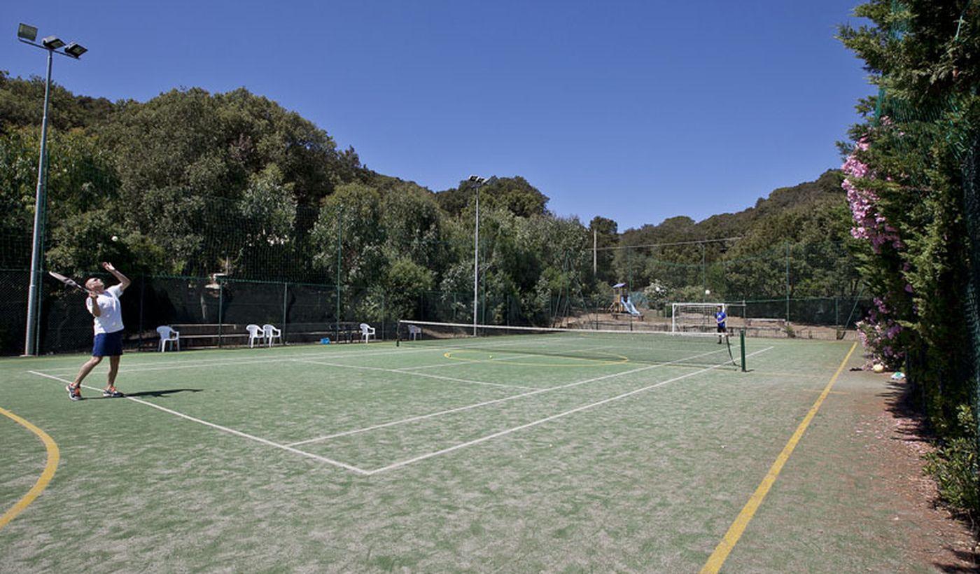 Campo sportivo nel campeggio