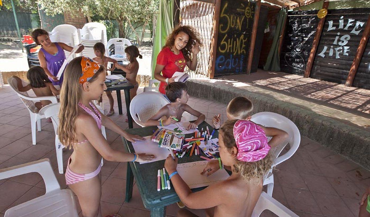 Camping con animazione per bambini