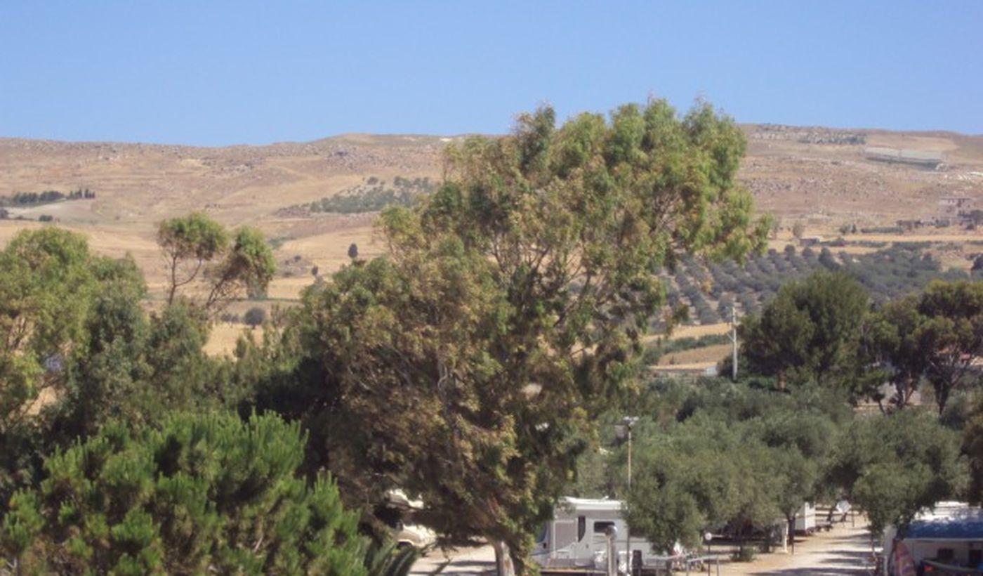 Campeggio a Butera, in Sicilia
