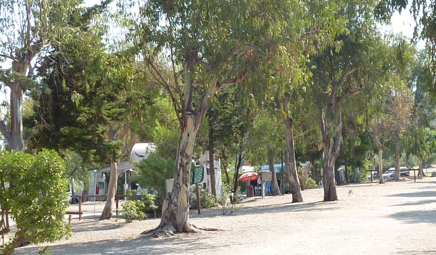 Camping in Cefalu, Sizilien