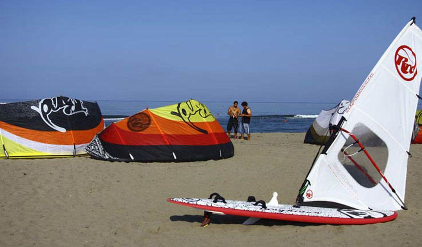 Kitesurfen in der Toskana