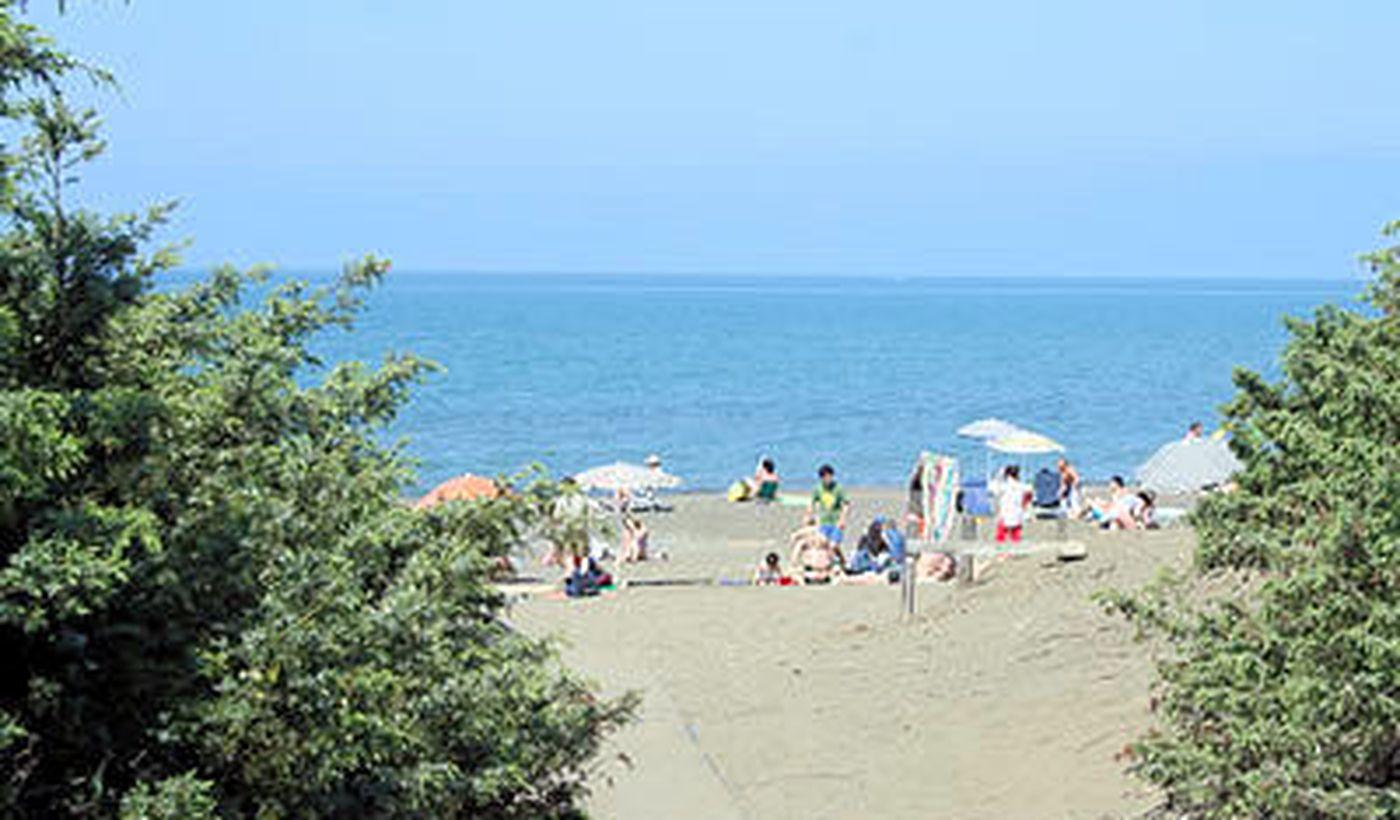 Der Strand des Camping Village