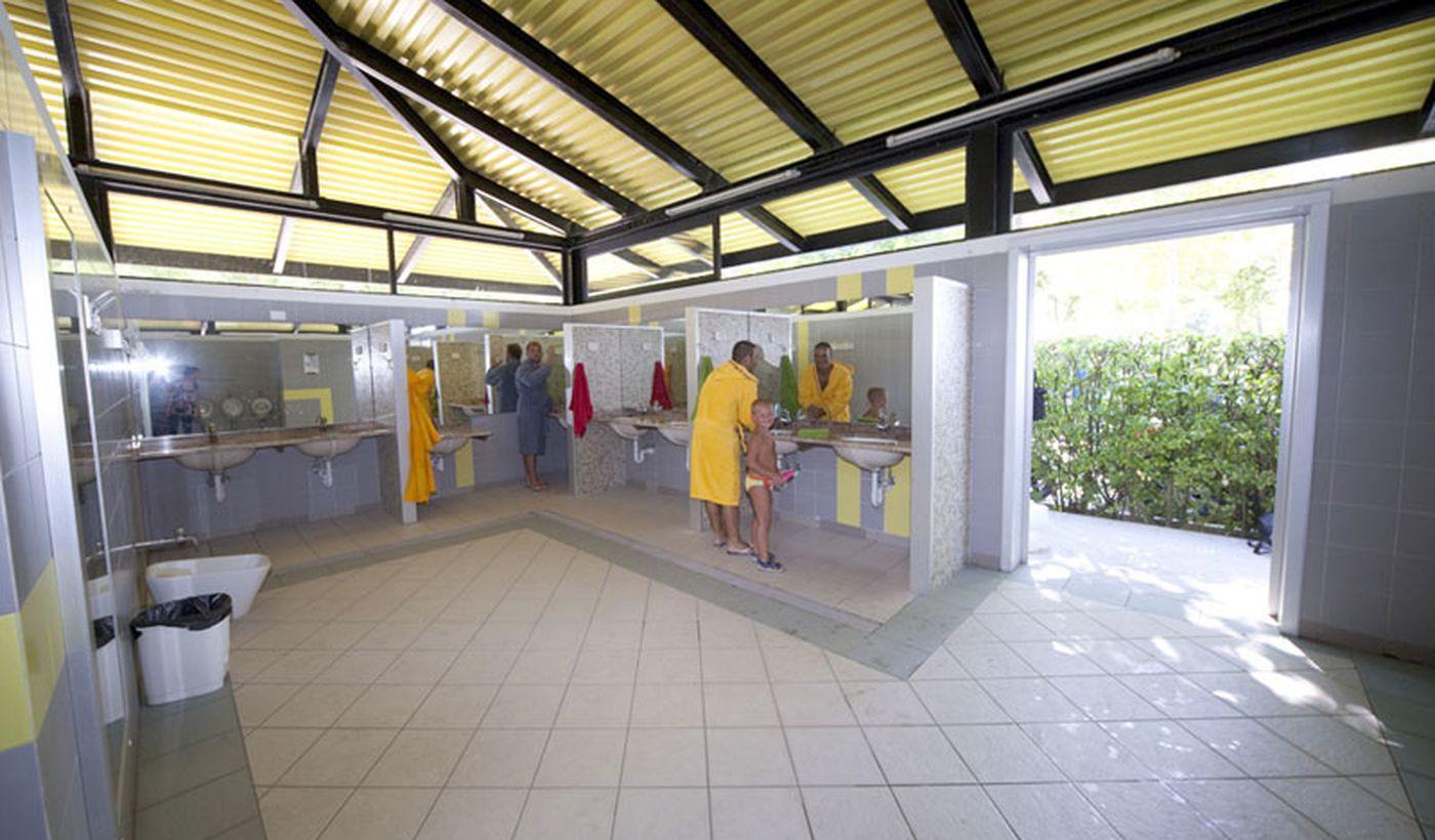 Die Toiletten auf dem Campingplatz