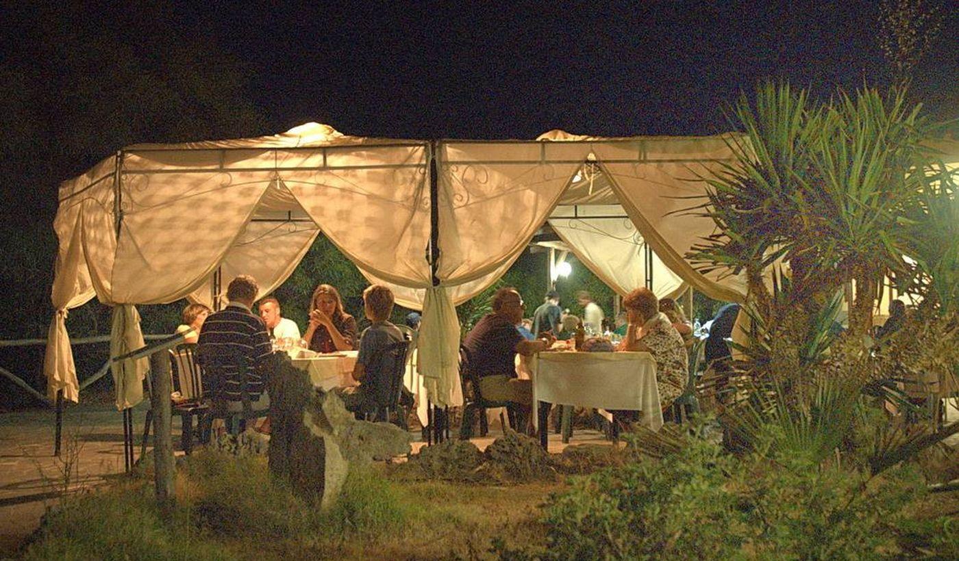Das Restaurant auf dem Campingplatz
