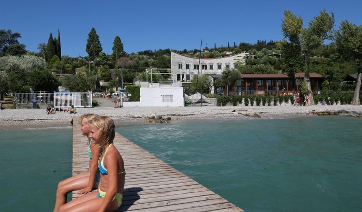 Walkway over the Lake Garda