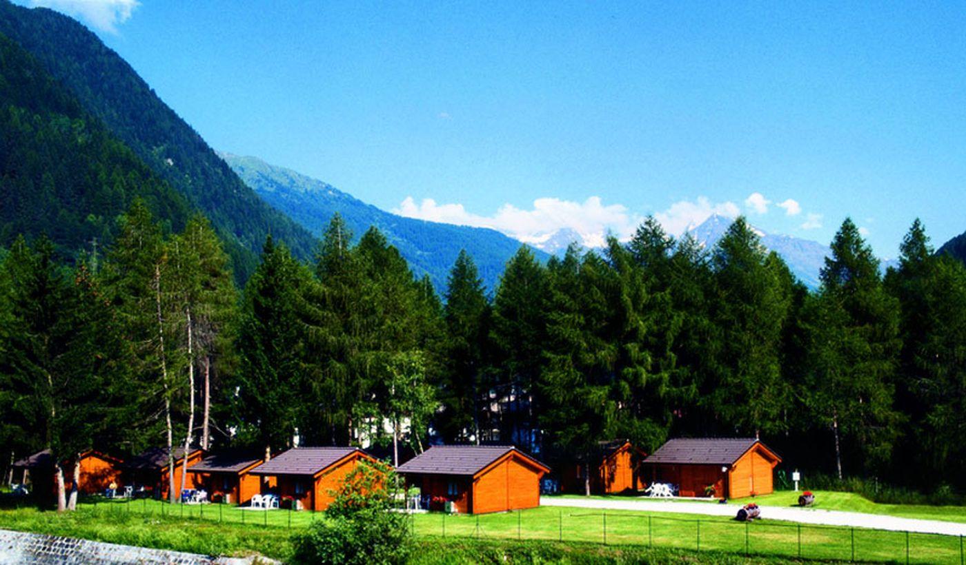Gli chalet del Camping Cevedale