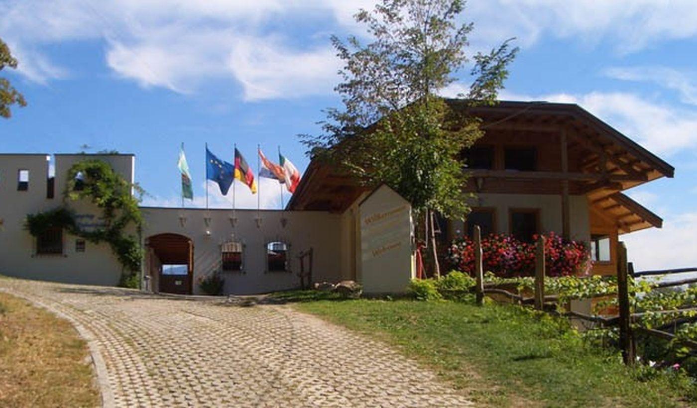 Der Eingang des Campingplatzes
