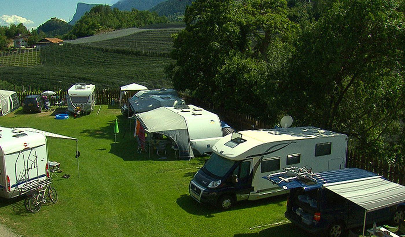 Campingplatz mit Stellplätzen für Wohnmobile