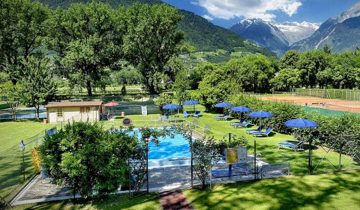 Campeggio con piscina a Merano