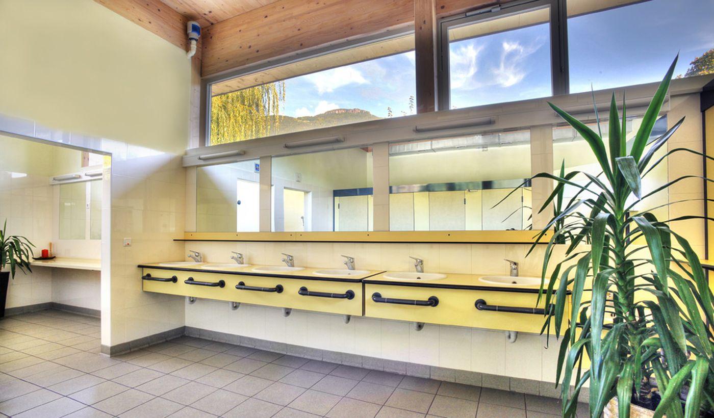 I servizi igienici del campeggio