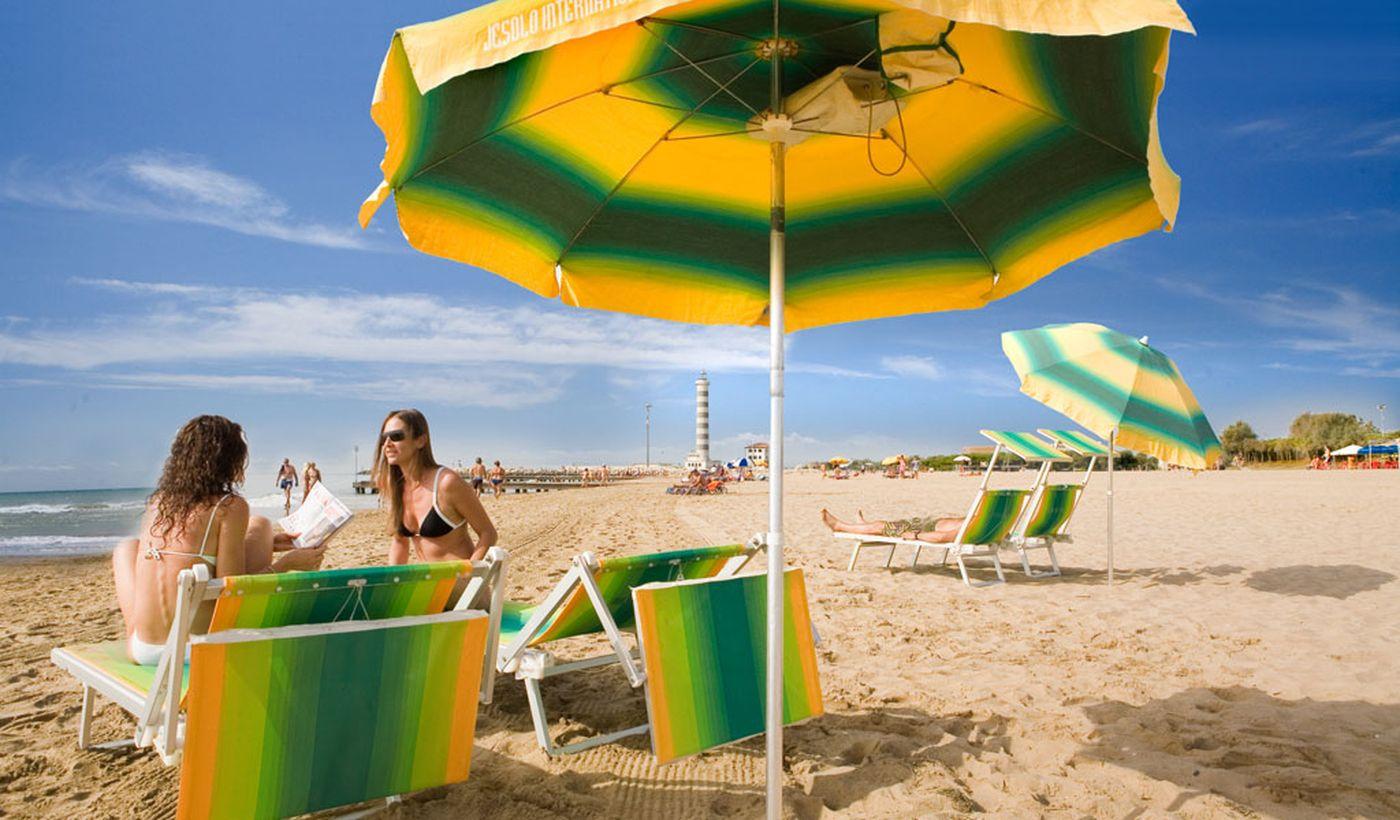 Der Strand von Jesolo