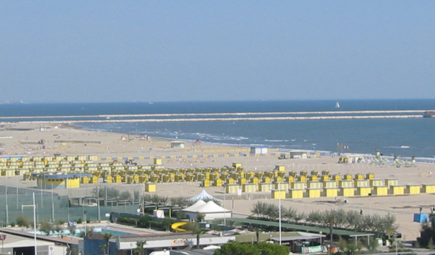 Der Strand in Sottomarina Lido