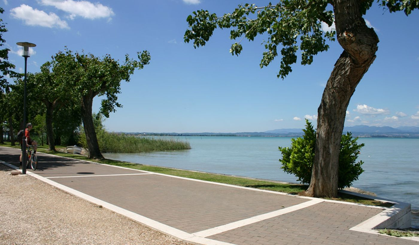 Camping pitches on the Garda Lake