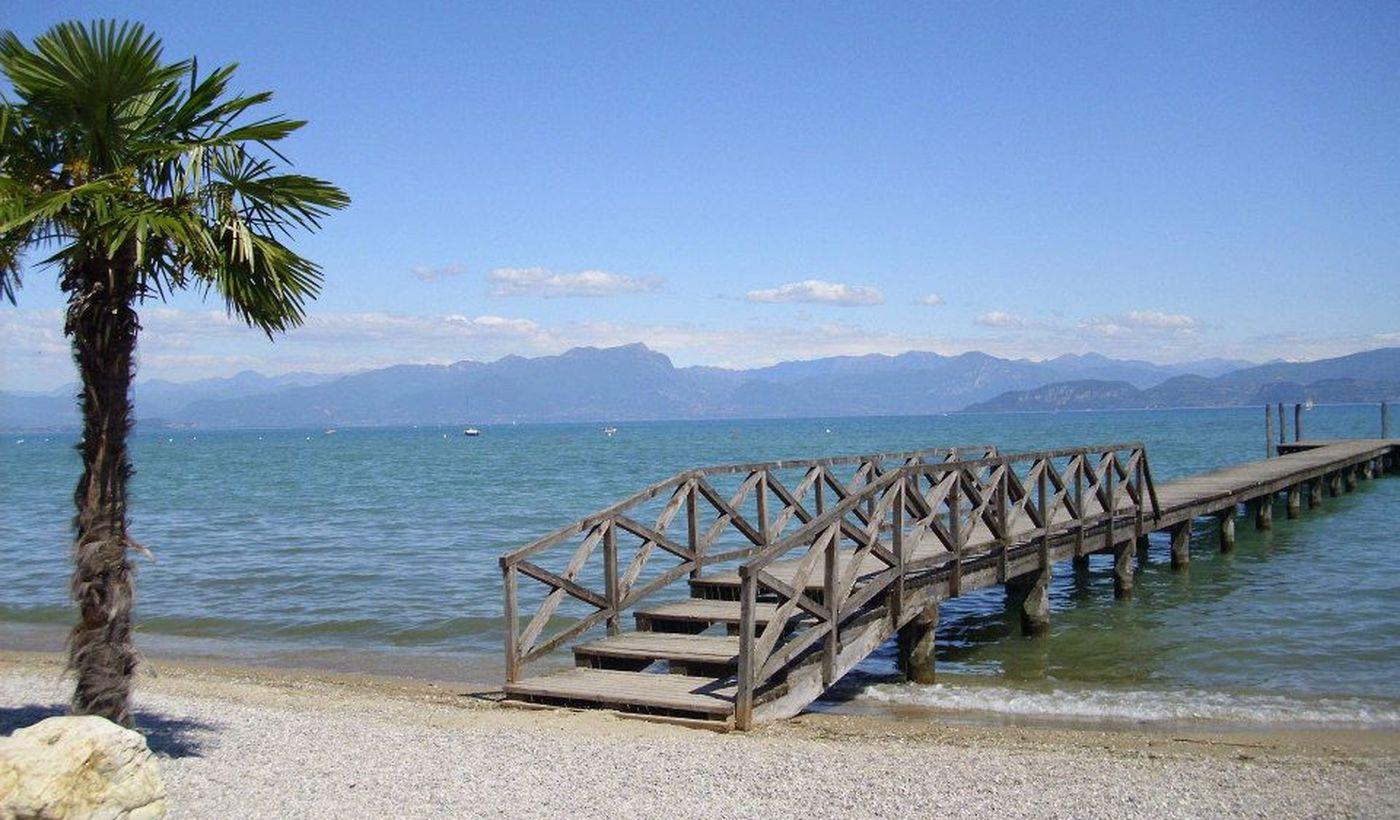 Der Strand am Gardasee