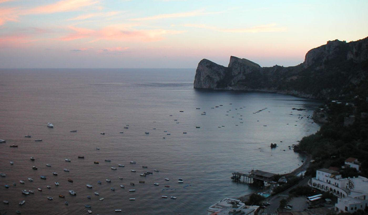 Baia di Nerano al tramonto