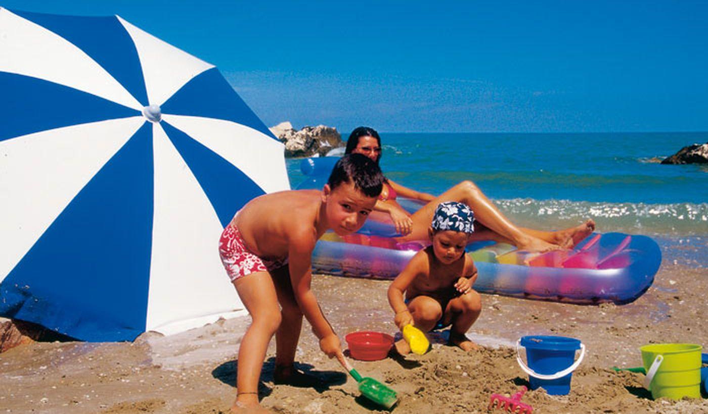 Camping sul Mare a Fano, Marche