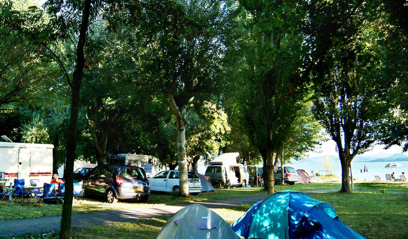 Campingplatz in Passignano sul Trasimeno, Umbrien