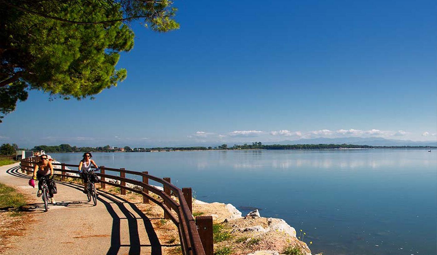 Feriendorf auf der Lagune von Grado