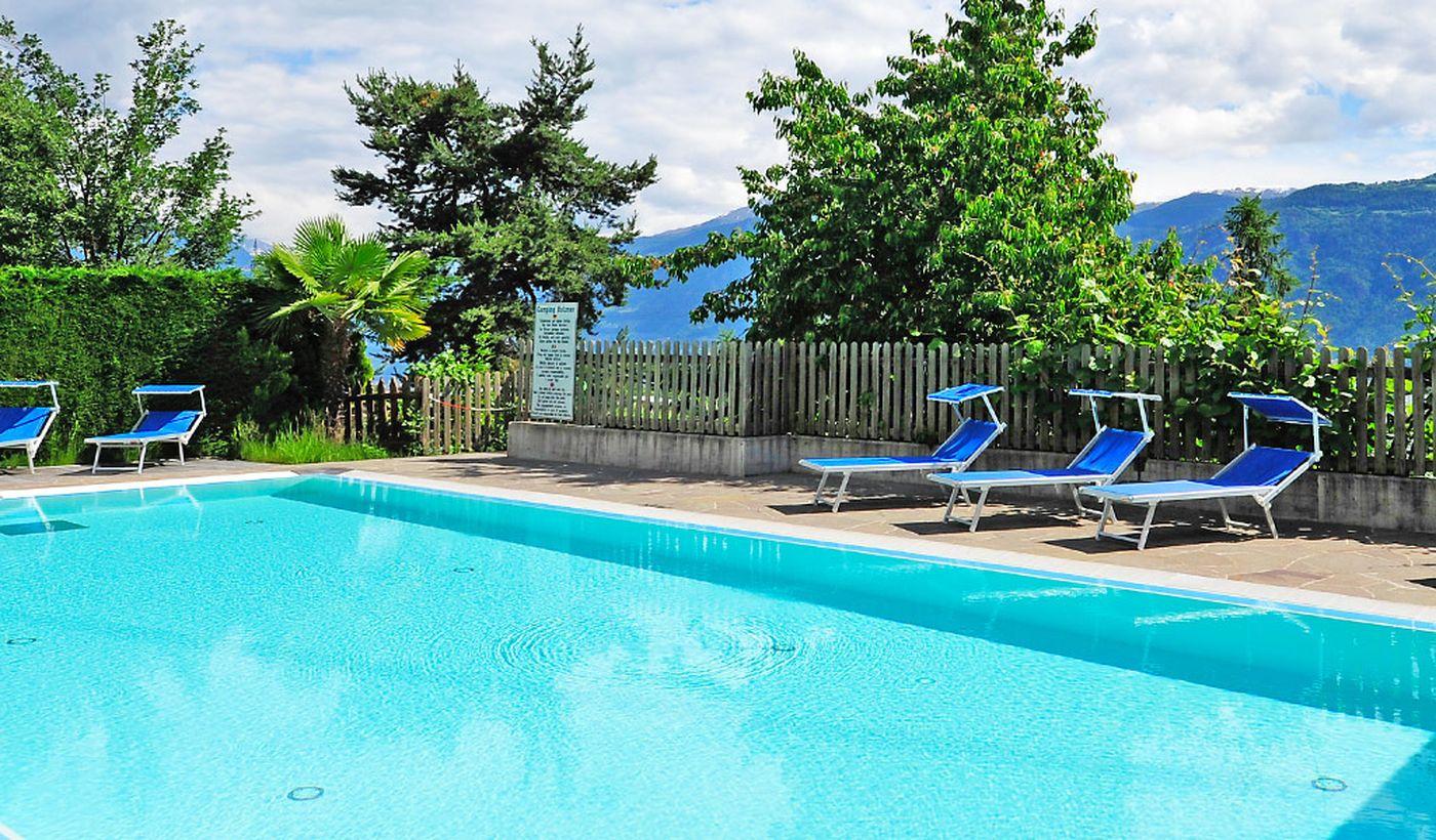 Camping mit Schwimmbad in Lana, Trentino-Südtirol