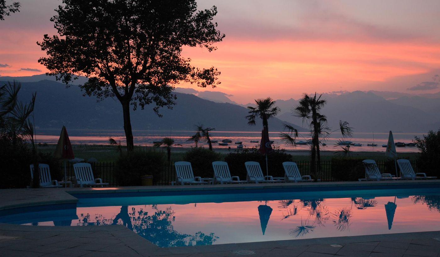 Sonnenuntergang am Lago Maggiore