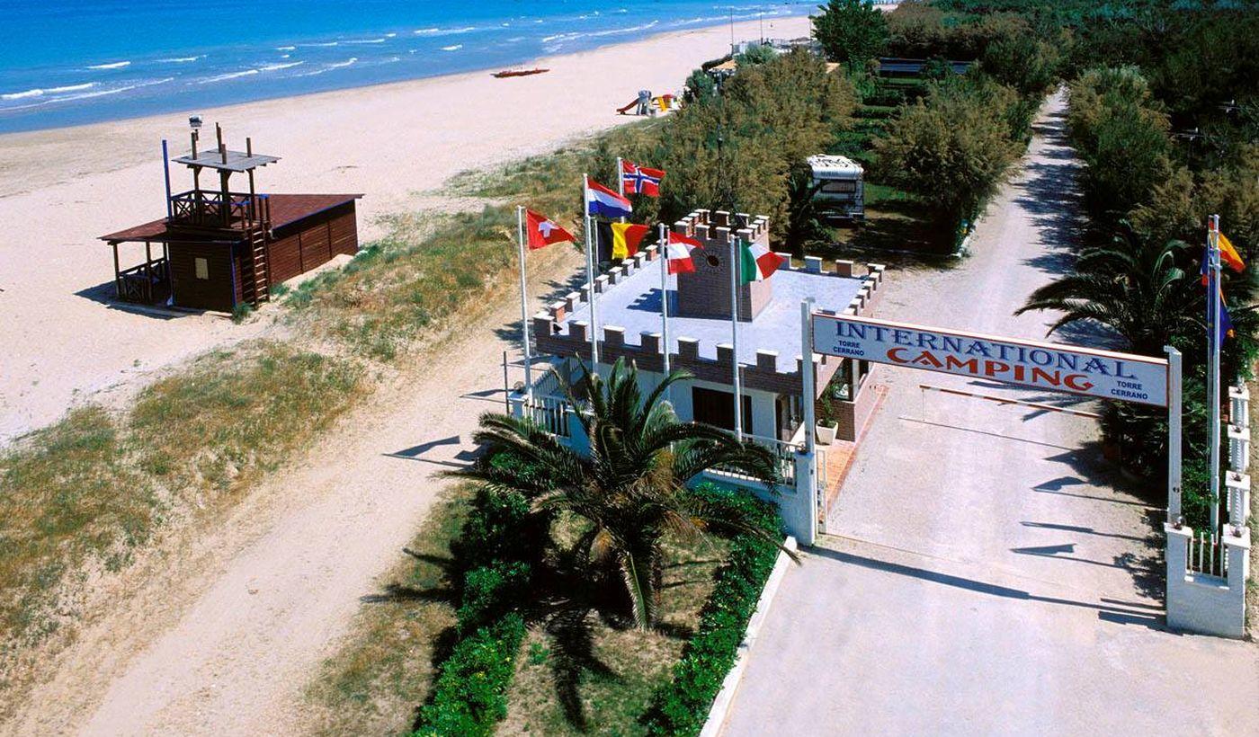 Camping na plaży w Pineto, Abruzja