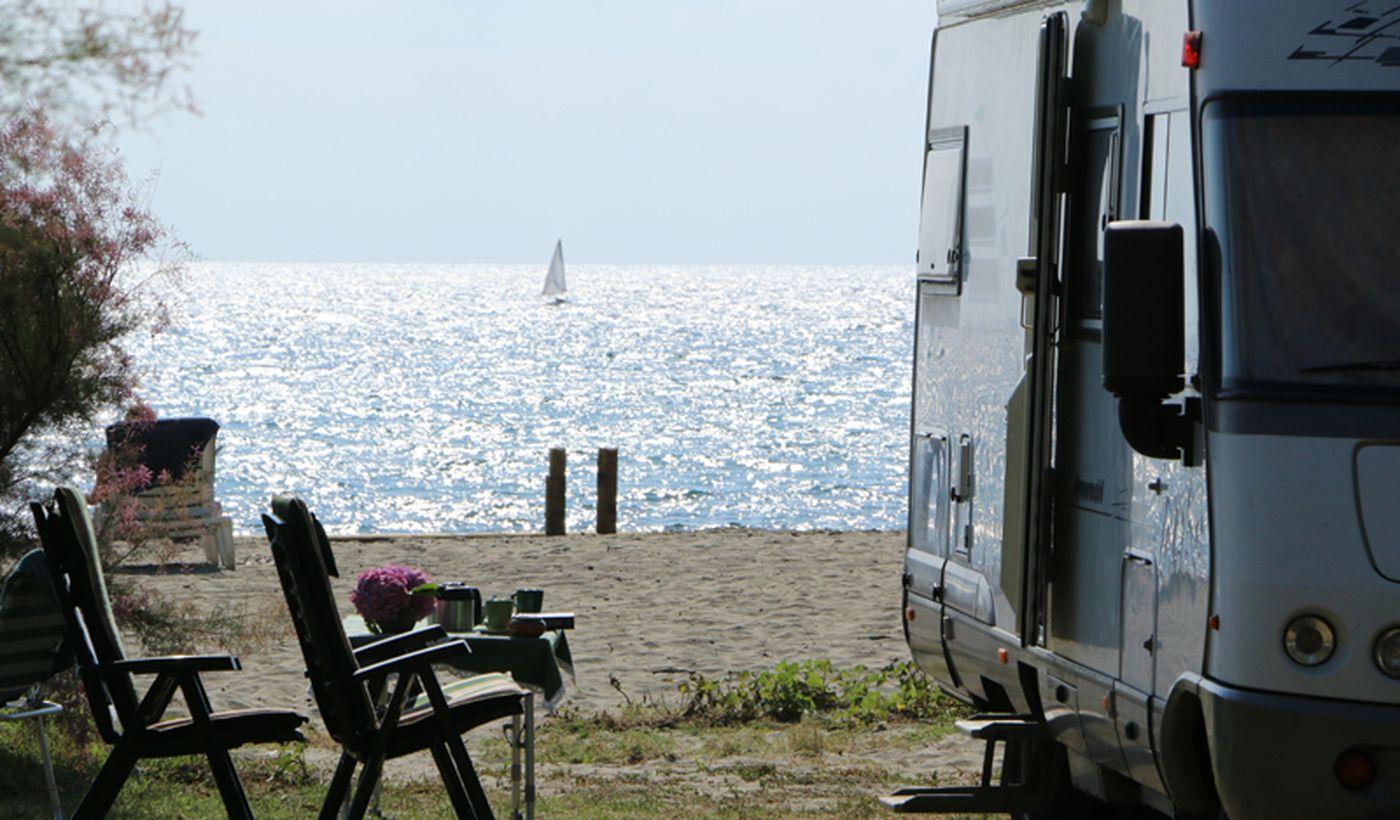 Camping avec plage privée à San Nicolao