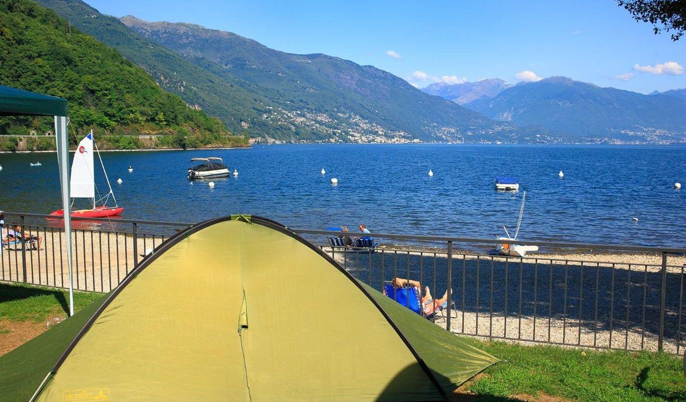 Campingplatz für Familien auf dem Lago Maggiore