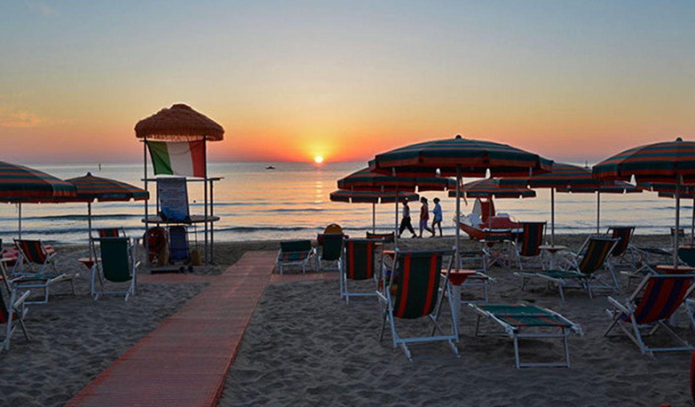 Der Strand in Roseto degli Abruzzi