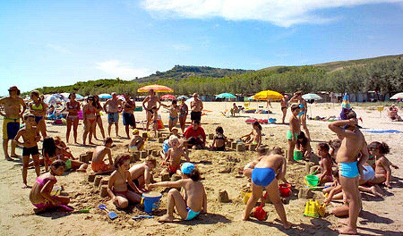 Gry dla dzieci na plaży