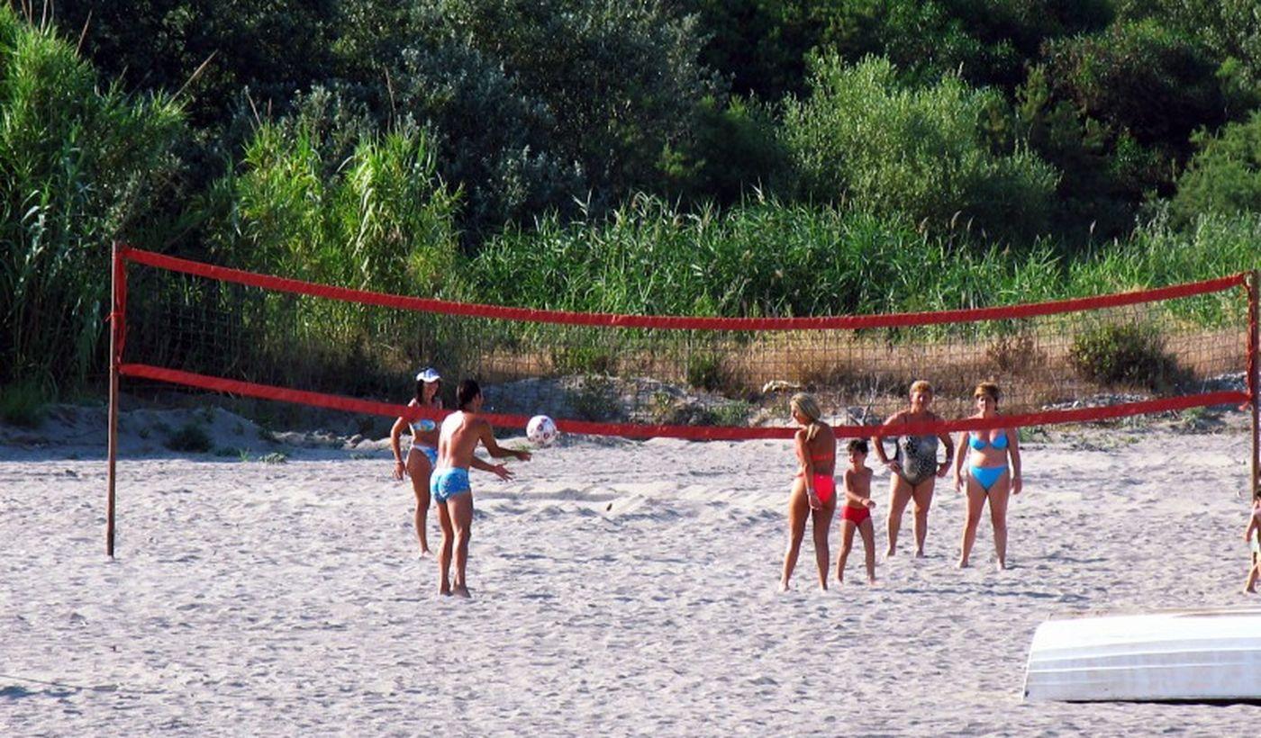 Beach Volley am Strand