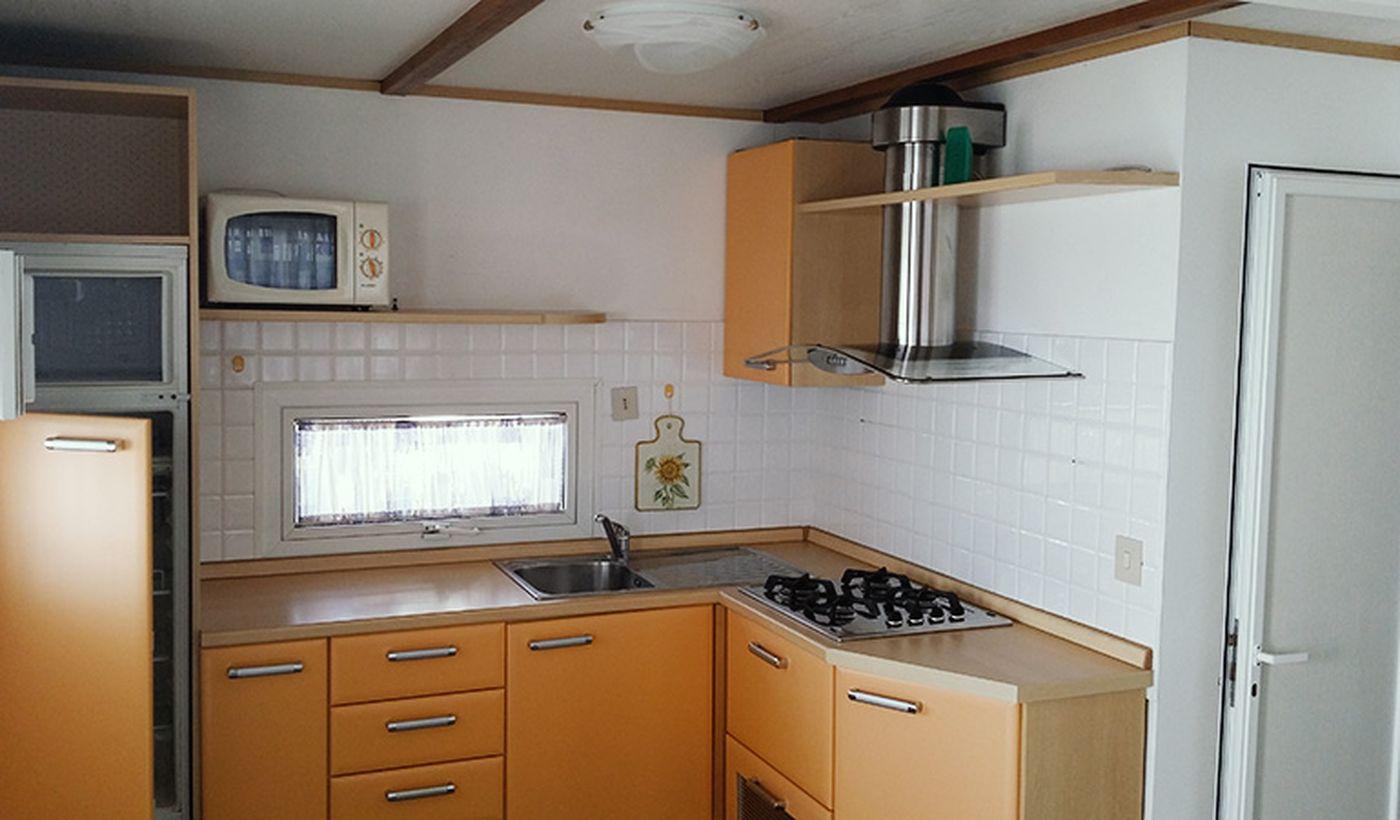 Die Küche des Bungalows