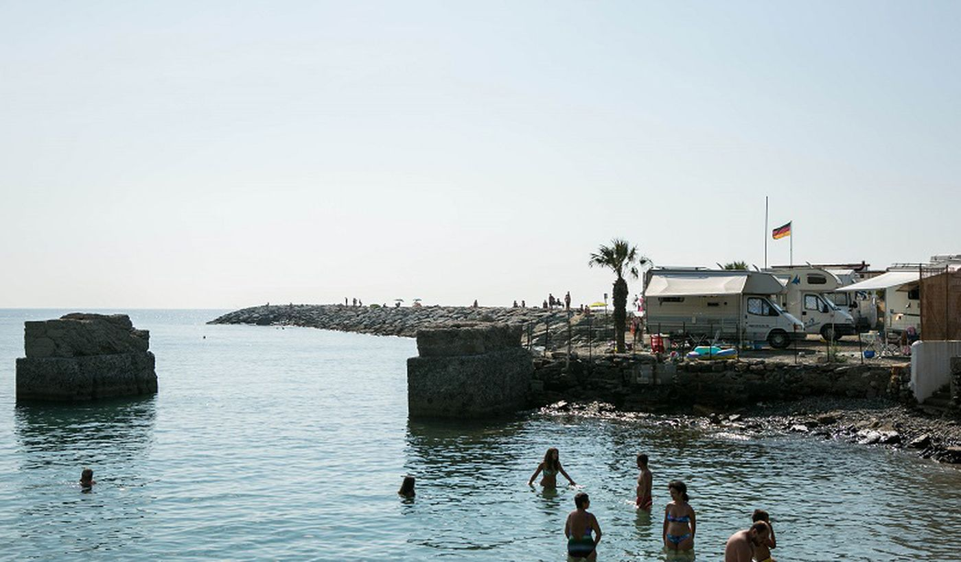 Das Meer bei Diano Marina, Ligurien
