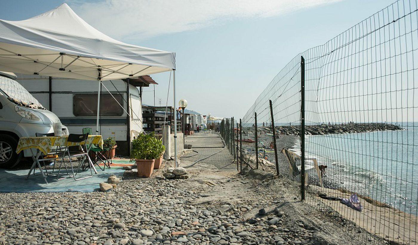 Camping am Meer in Ligurien