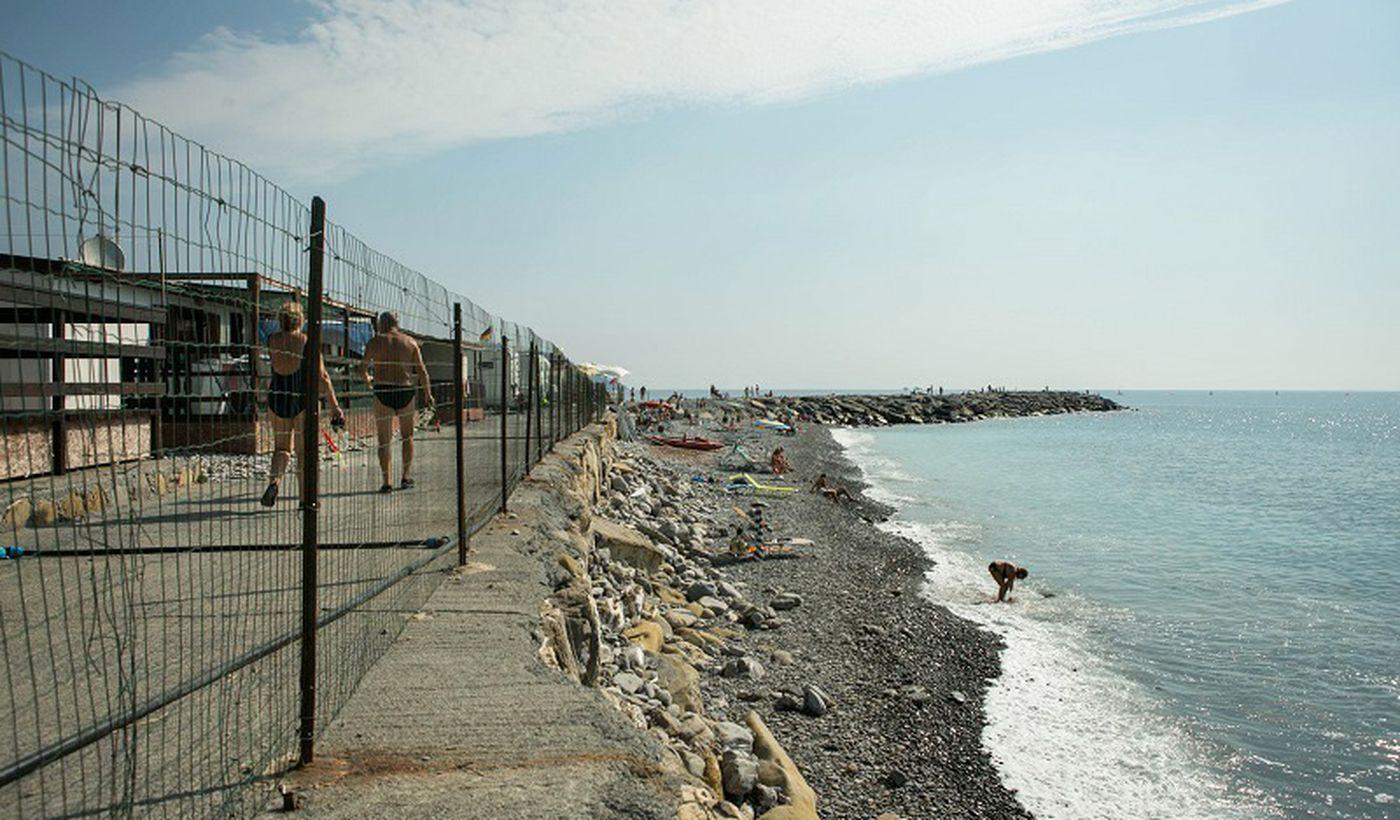 Der Strand in Diano Marina