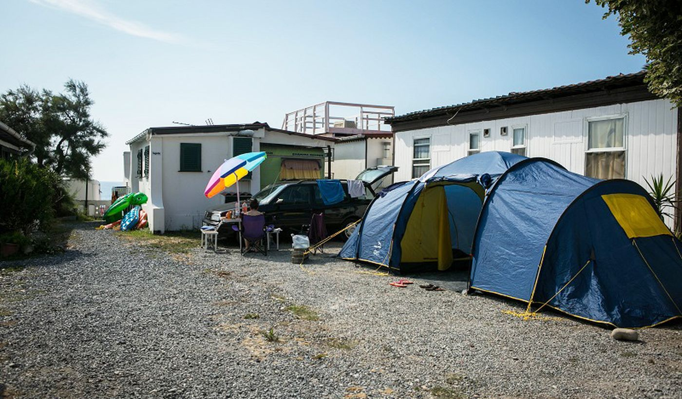 Camping in Diano Marina, Ligurien