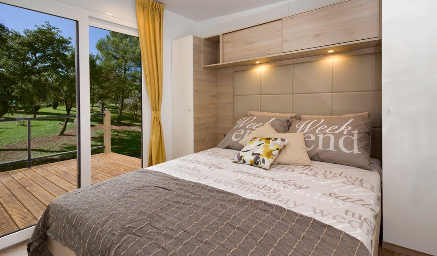 Camera da letto della casamobile in Istria
