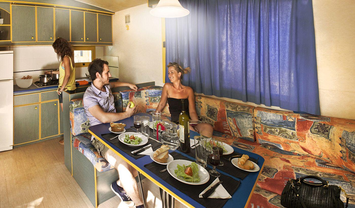 Campeggio con case mobili