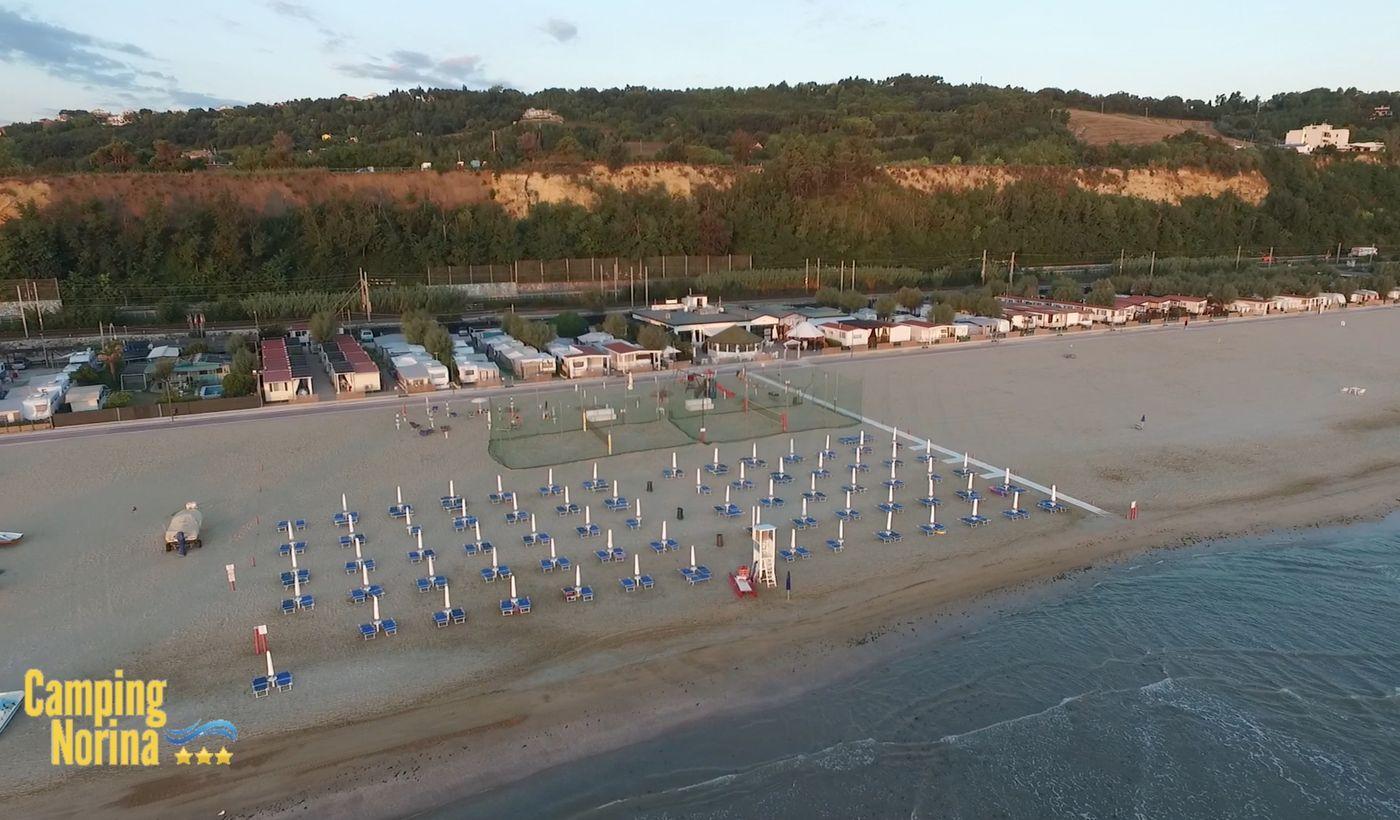 Campeggio con spiaggia privata