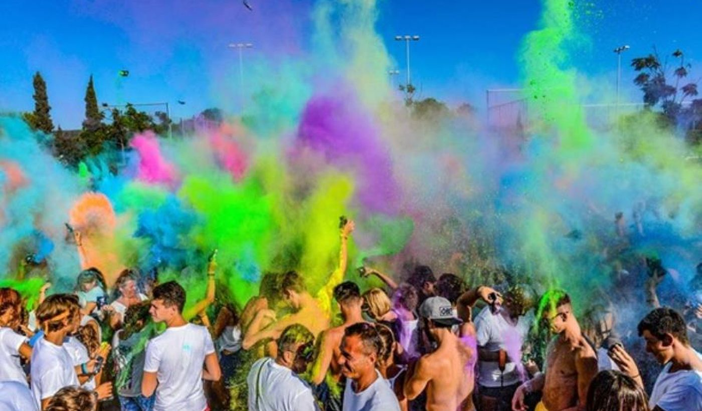 Holi colour party